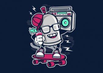Street Bomber Graphic t-shirt design