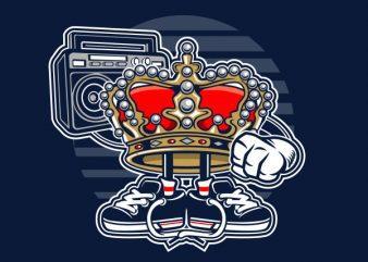 Street King Graphic t-shirt design
