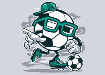 Street Soccer Graphic t-shirt design
