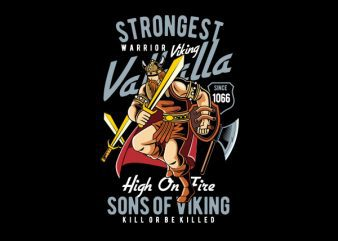 Strongest Viking Vector t-shirt design