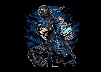 Sub Zero Vector t-shirt design