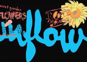 Sunflower Kids Tshirt Design