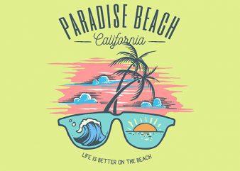 Sunglass Beach Graphic t-shirt design