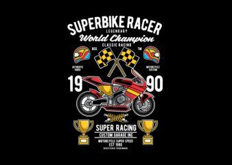 Superbike Racer Vector t-shirt design