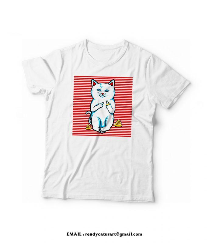 fucking cat stripes t shirt designs for merch teespring and printful