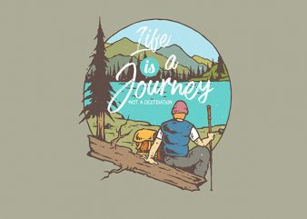 The Journey Graphic t-shirt design