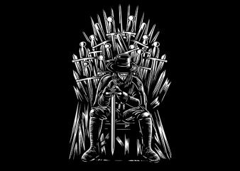 The Thrones Of Vendetta Vector t-shirt design