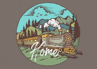 Train Graphic t-shirt design