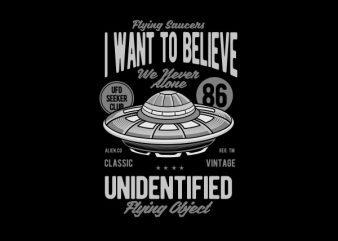 UFO Vector t-shirt design
