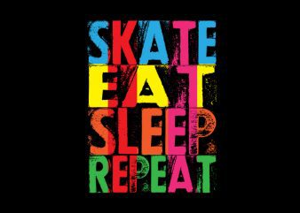 skate eat sleep repeat Vector t-shirt design