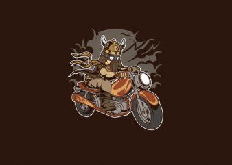 Viking Motorcycle Vector t-shirt design