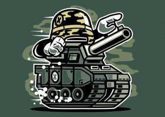War Tank Vector t-shirt design