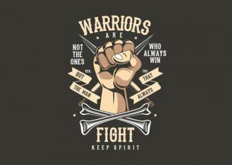 Warriors Fist Vector t-shirt design