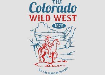 Wild West Graphic t-shirt design