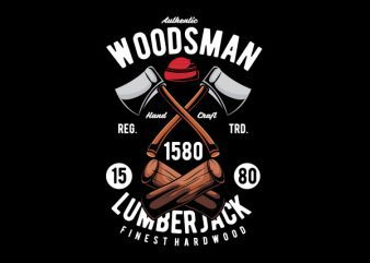 Woodsman Vector t-shirt design