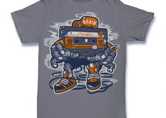Zombie Cassette Graphic t-shirt design