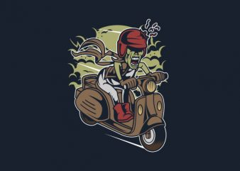 Zombie Scooter Vector t-shirt design