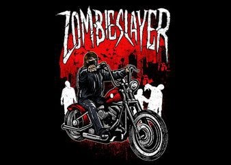 Zombie Slayer Vector t-shirt design