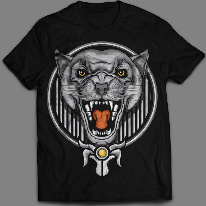 Angry Phanter T-shirt design template tshirt factory