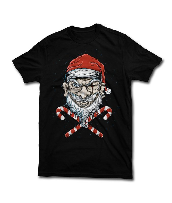 Badass Santa t shirt design png