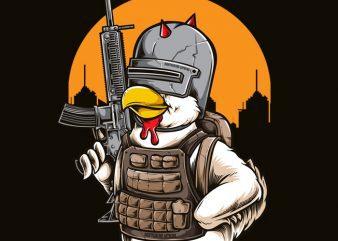 Chicken t shirt vector file