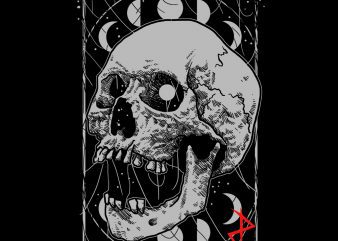 dark skull tshirt design