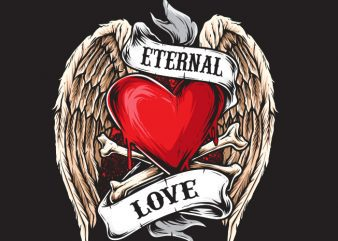 Eternal Love commercial use t-shirt design
