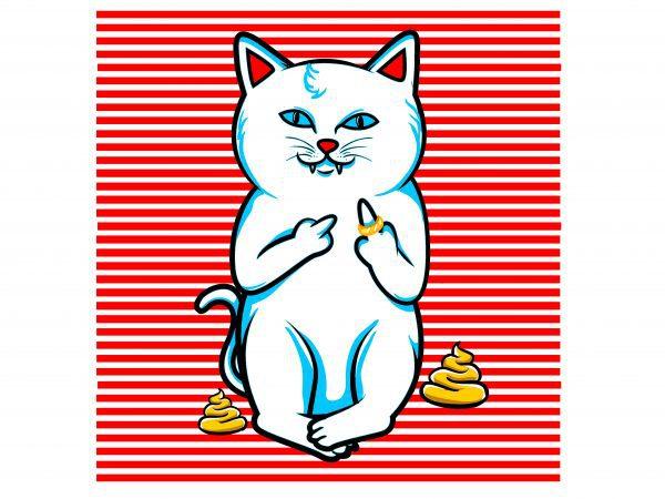 fucking cat stripes t shirt graphic design