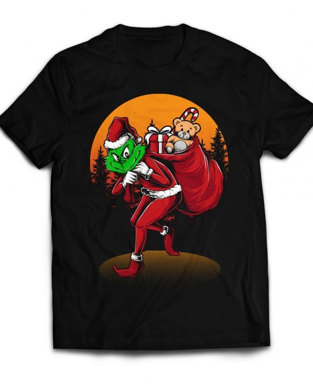 Grinch Stole Christmas t shirt designs for sale