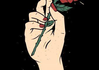 hand flower not knife illustrator graphic t shirt