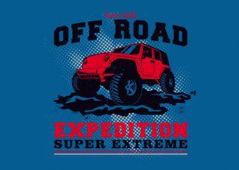 Off Road Car graphic t-shirt design