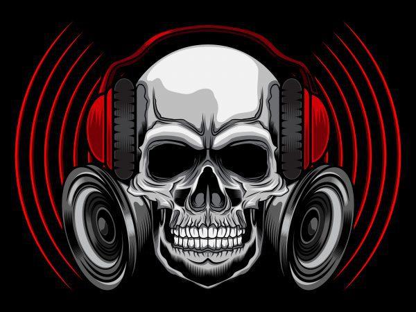 Skull T Shirt Design Vector Ilration