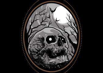 skull horror tshirt design