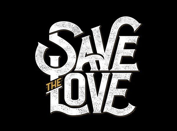 Save the love t shirt template vector