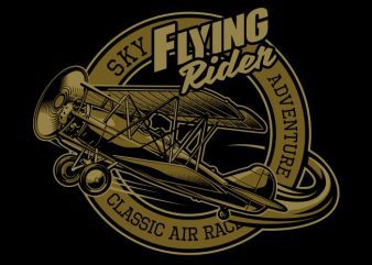 Flying Rider t shirt graphic design