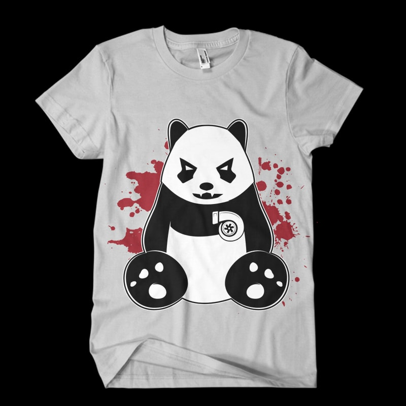 panda turbo Vector t-shirt design tshirt design for sale