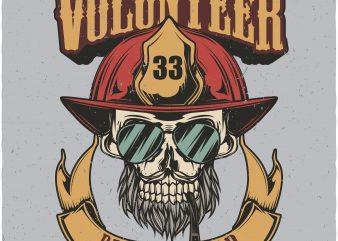 Volunteer resque squad. Vector T-Shirt Design