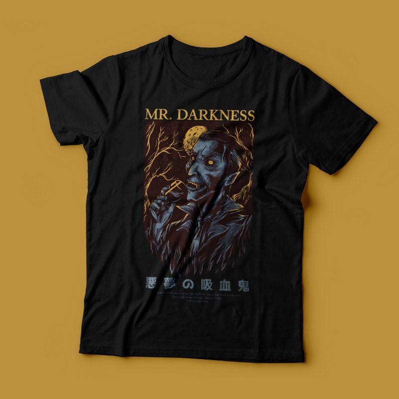 Mr. Darkness T-Shirt Design tshirt-factory.com