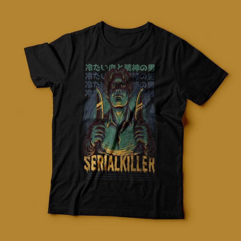 Serial Killer T-Shirt Design t shirt designs for merch teespring and printful