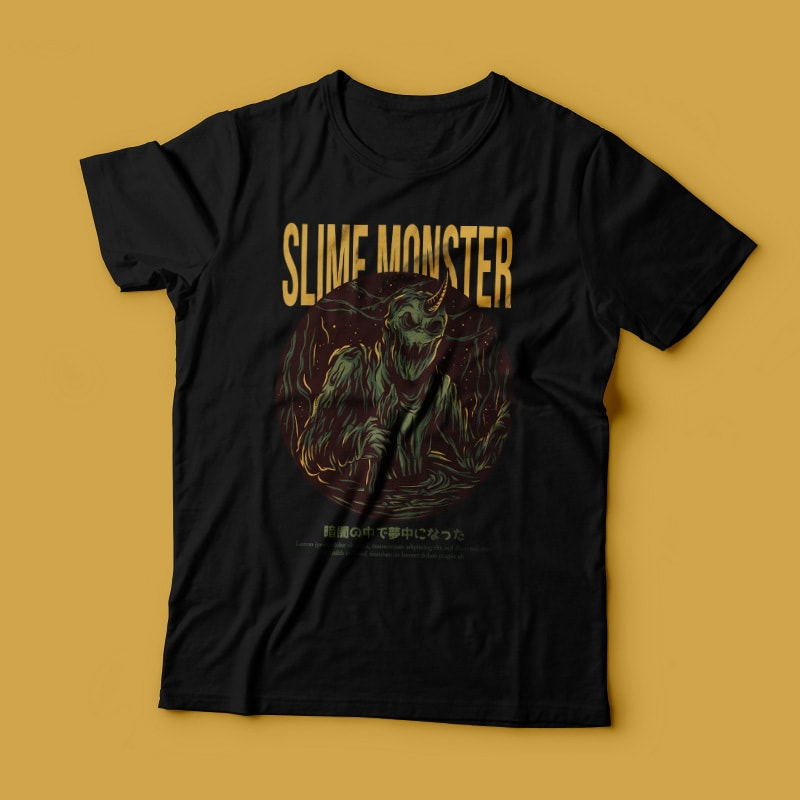 Slime Monster T-Shirt Design tshirt-factory.com