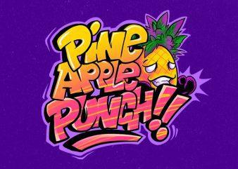 pineapple punch t shirt illustration
