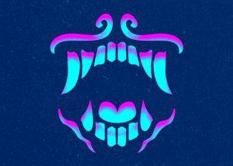 GLOWING TOOTH Graphic t-shirt design