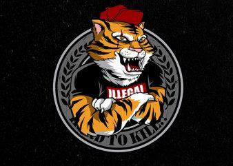tiger's clan Vector t-shirt design