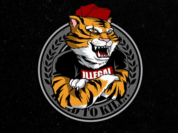 tiger's clan Vector t-shirt design