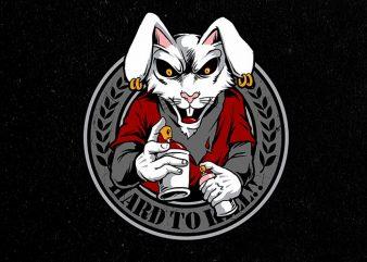 rabbit clan Vector t-shirt design