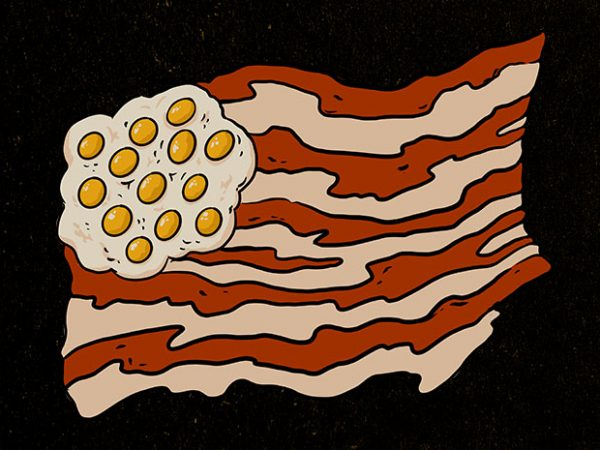 proud to be a bacon Graphic t-shirt design