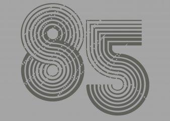 Eight Five Sport Tshirt Design