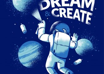 Astronaut Graffiti vector t shirt design artwork