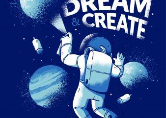 Astronaut Graffiti t shirt vector