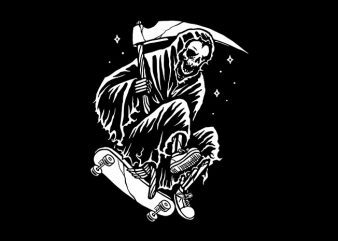 Grim Skater vector shirt design